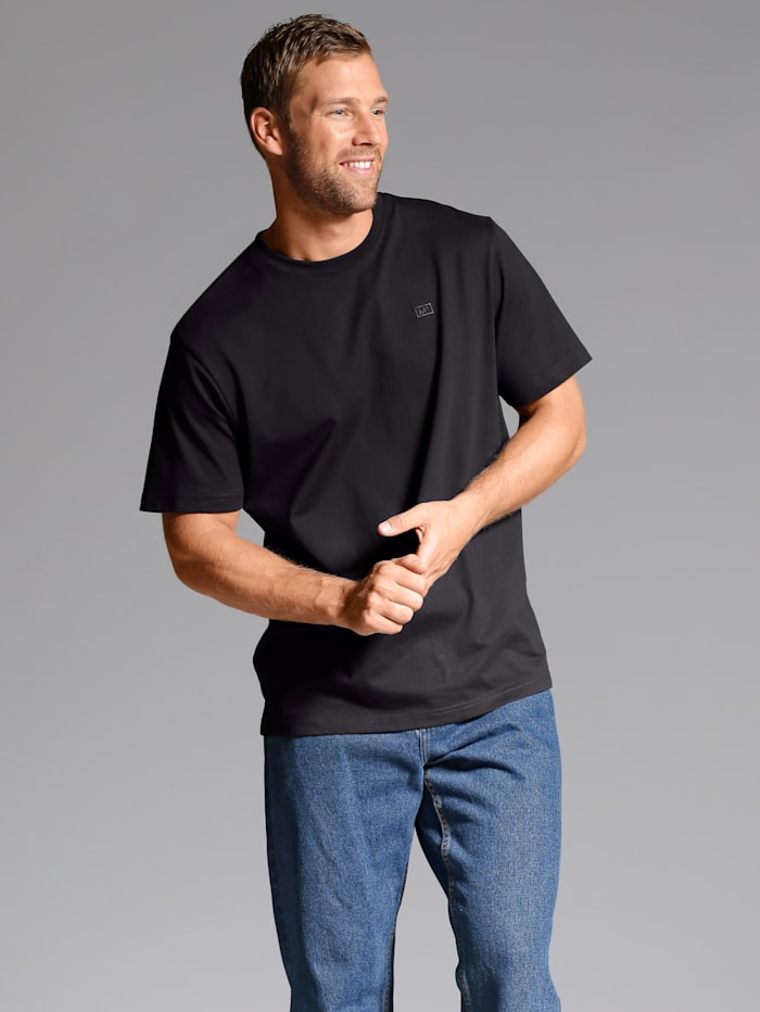 Men Plus T-shirt, Zwart