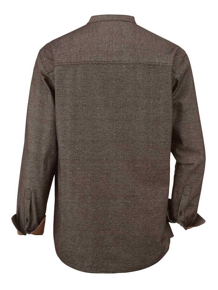 Overhemd met modieuze opstaande kraag