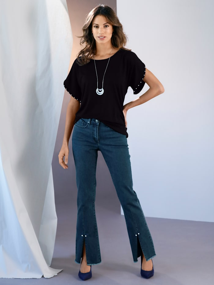 Jeans mit Schlitz am Saum