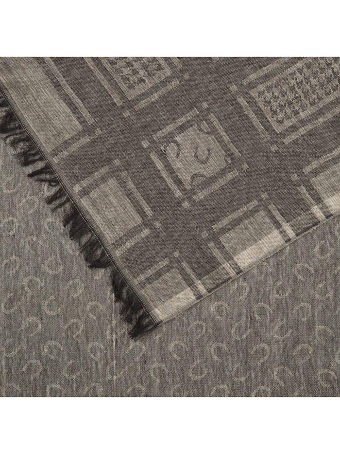 Logoschal aus Baumwolle und Wolle