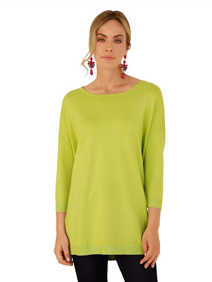 AMY VERMONT Pullover in Feinstrick-Qualität, Neongrün