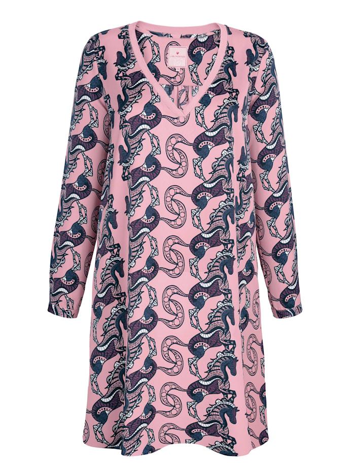 Kleid mit dekorativer Bordüre