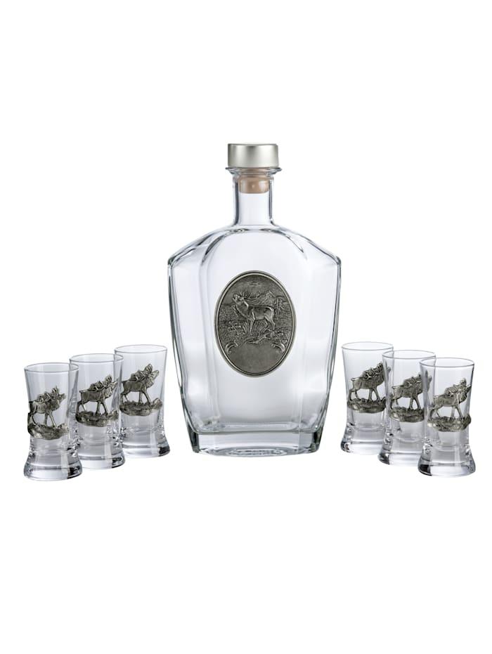 Set med flaska och 6 snapsglas, Natur