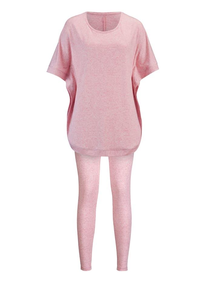 Simone Športové oblečenie v modernom dizajne, ružová melírova