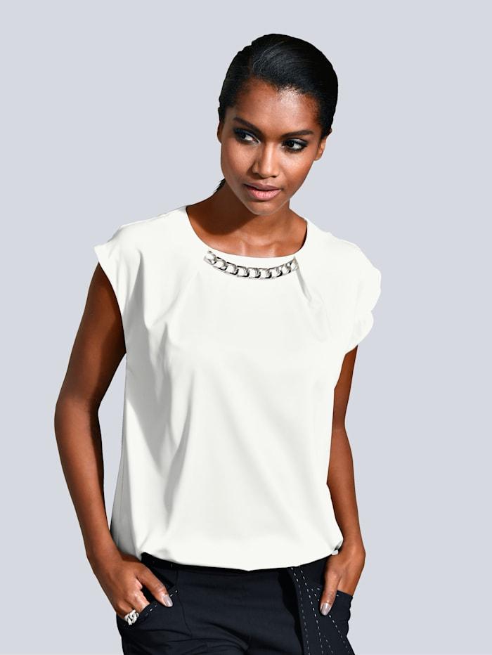 Alba Moda Shirt mit Kettendetail, Weiß