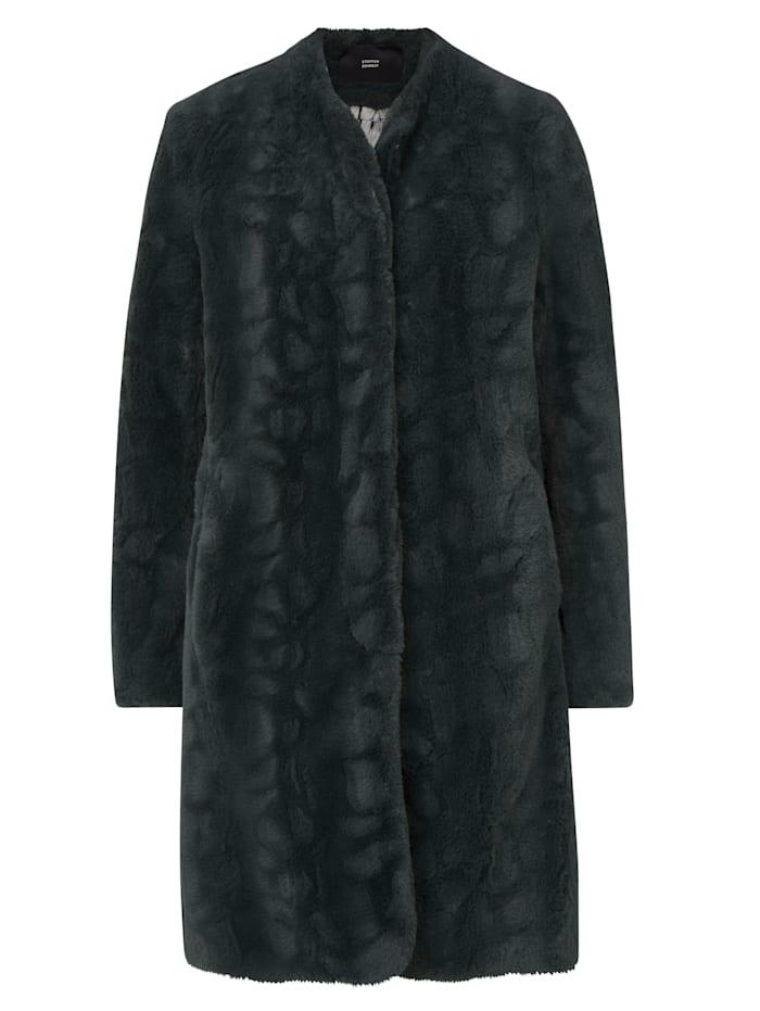 STEFFEN SCHRAUT Fake Fur Mantel, Petrol