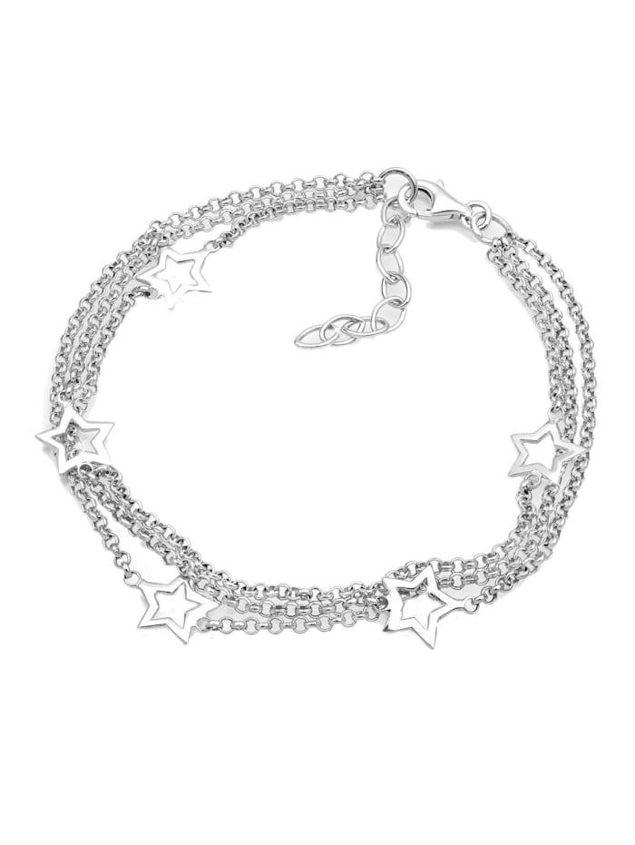 Armband 3-Lagig Sterne 925 Sterling Silber