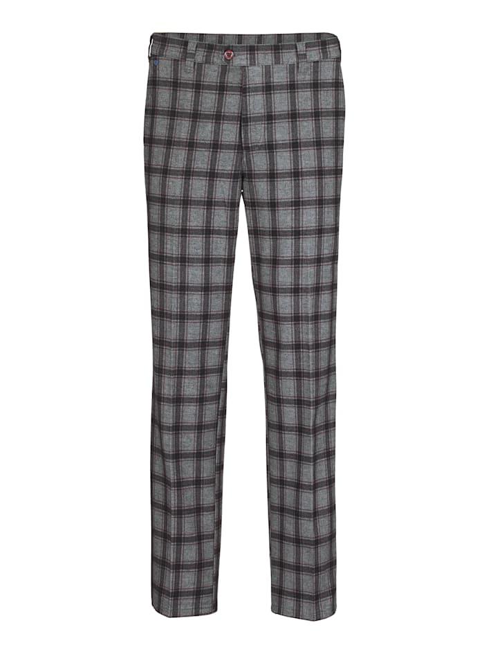 BABISTA Pantalon d'aspect laine chic, Gris/Noir