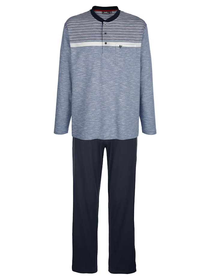 Hajo Pyjama met klimaatvezels, Marine