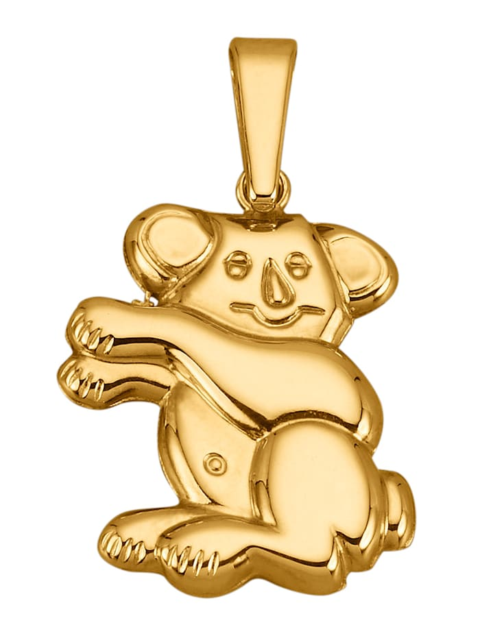Hanger Koala van 8 kt., Geelgoudkleur