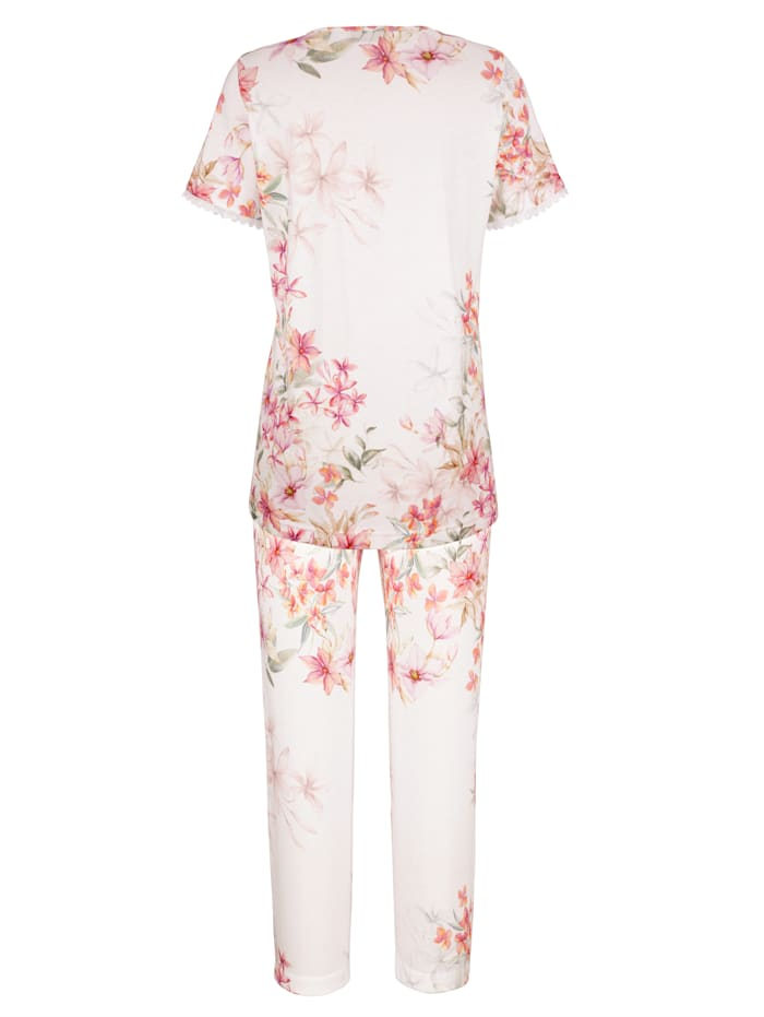 Pyjama à fine dentelle