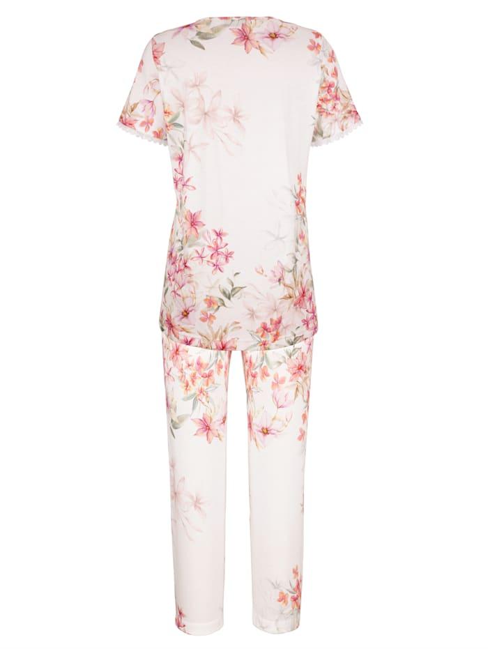 Schlafanzug mit zarter Spitze