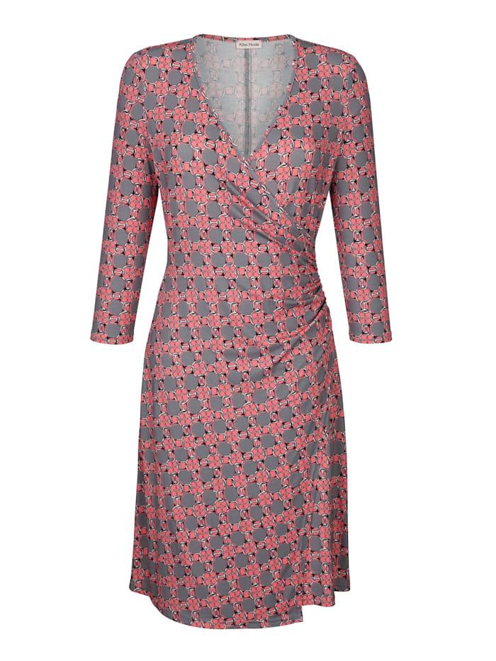 Kleid in Wickeloptik mit Knotendetail