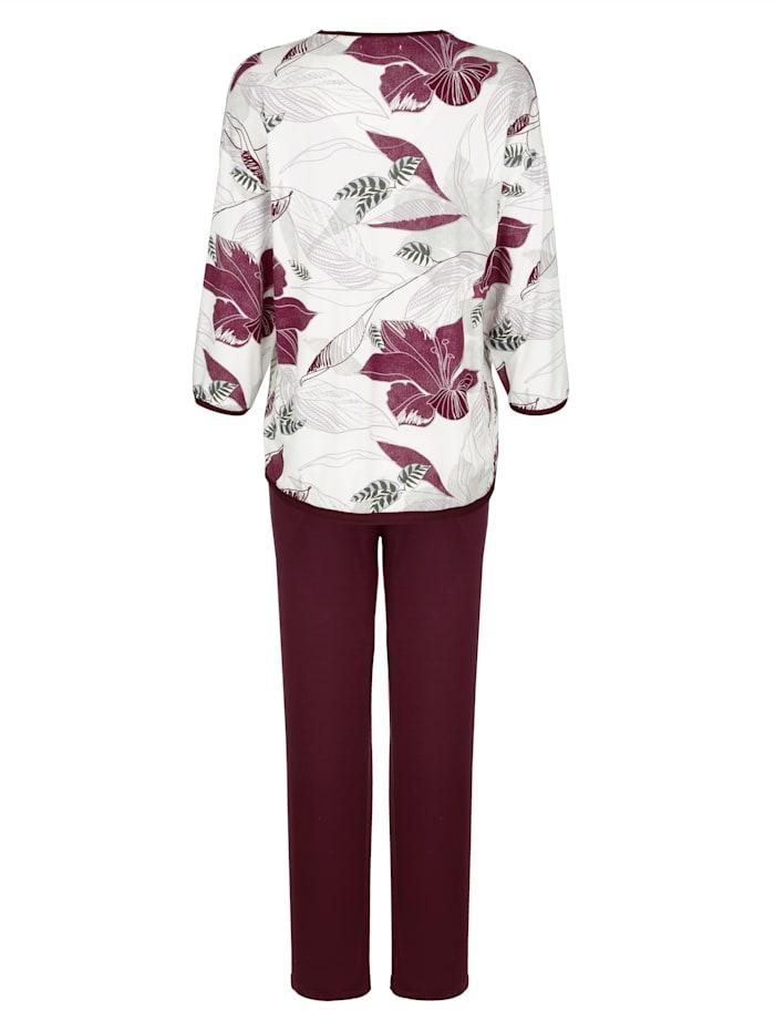 Schlafanzug mit hübschem Blumenprint