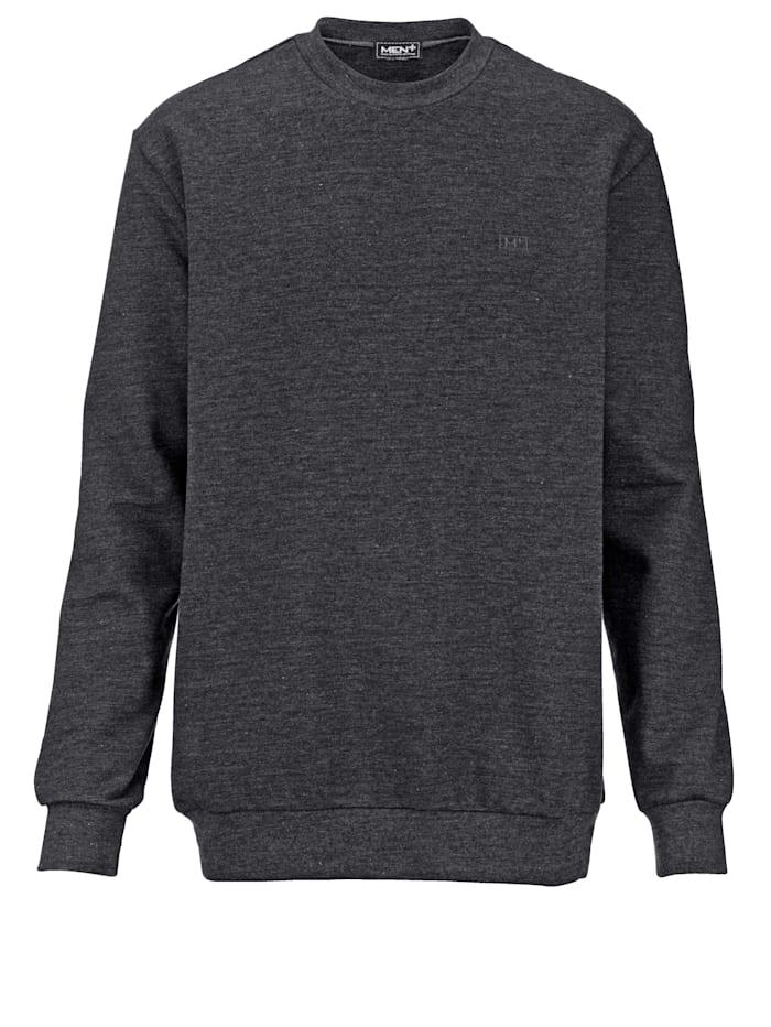 Men Plus Sweatshirt mit kleiner Stickerei, Dunkelgrau