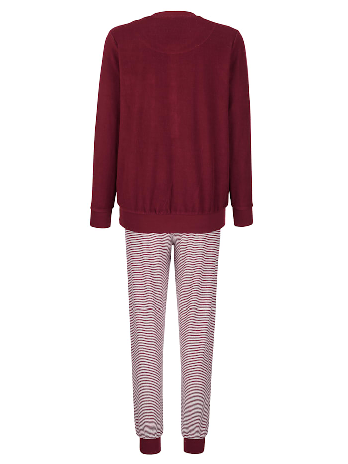 Pyjama met print op het borstzakje