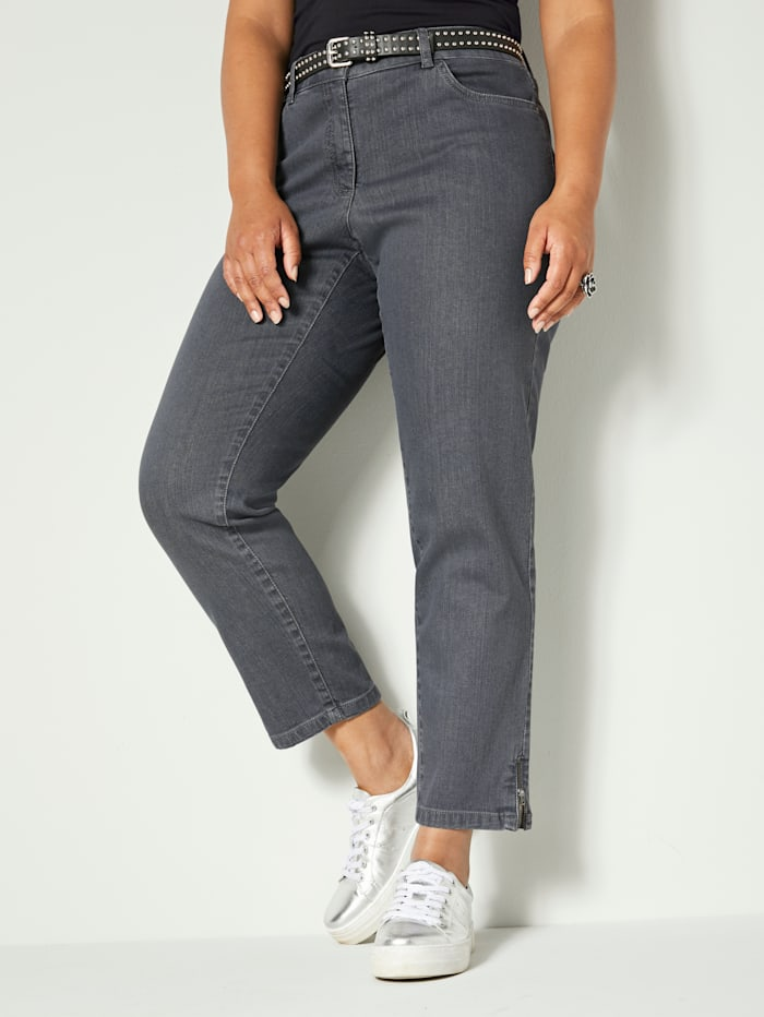 Angel of Style Jeans in 5-Pocket-Form, Grau