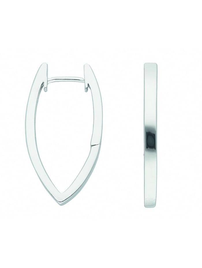1001 Diamonds Damen Silberschmuck 925 Silber Ohrringe / Creolen, silber