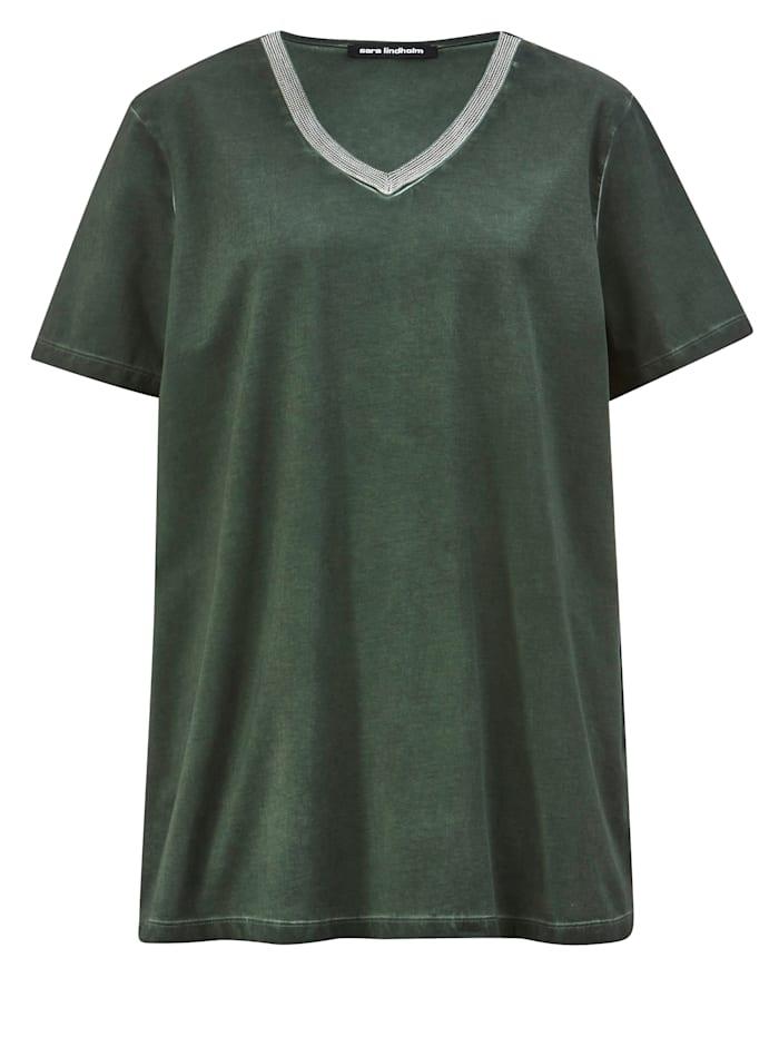 Shirt mit Dekoband am Ausschnitt