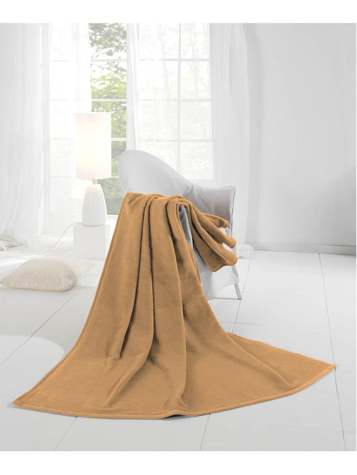 biederlack Wohndecke 'Uno Cotton', Camel