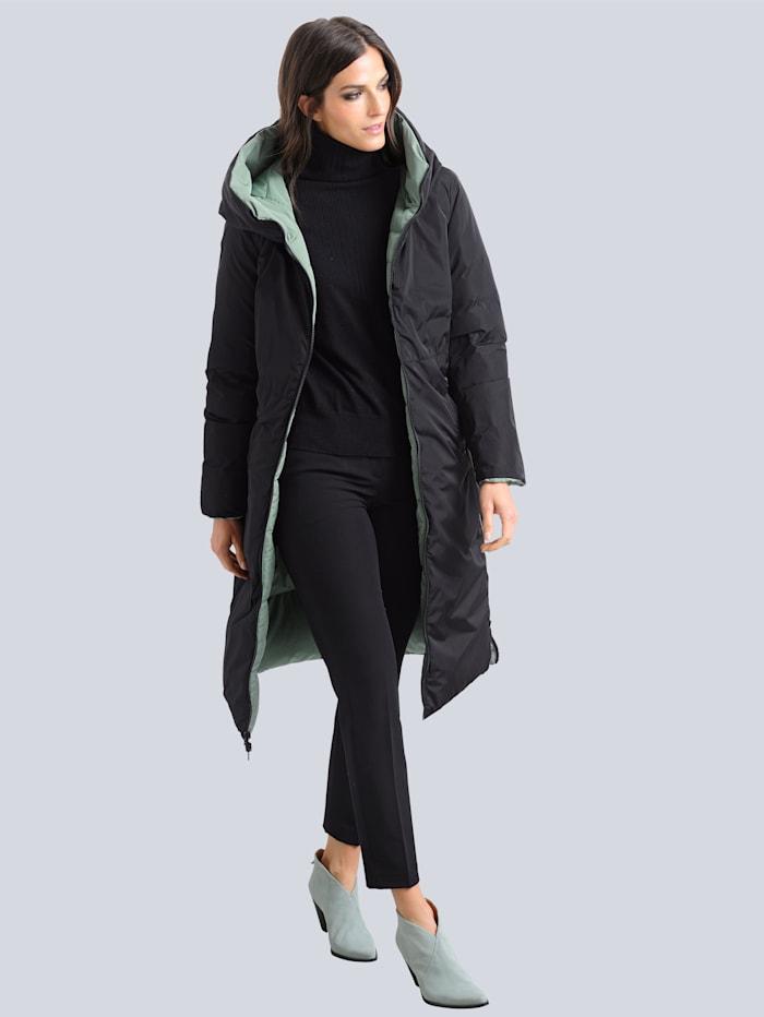 Prešívaný kabát s možnosťou obojstranného nosenia