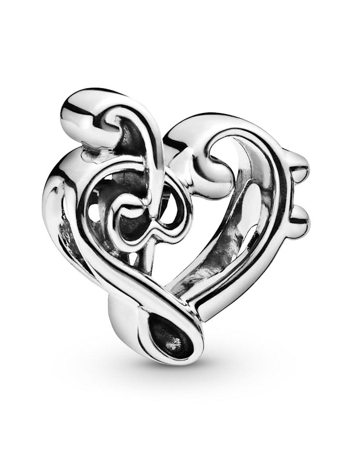 Pandora Charm -Herz Notenschlüssel- 798346, Silberfarben