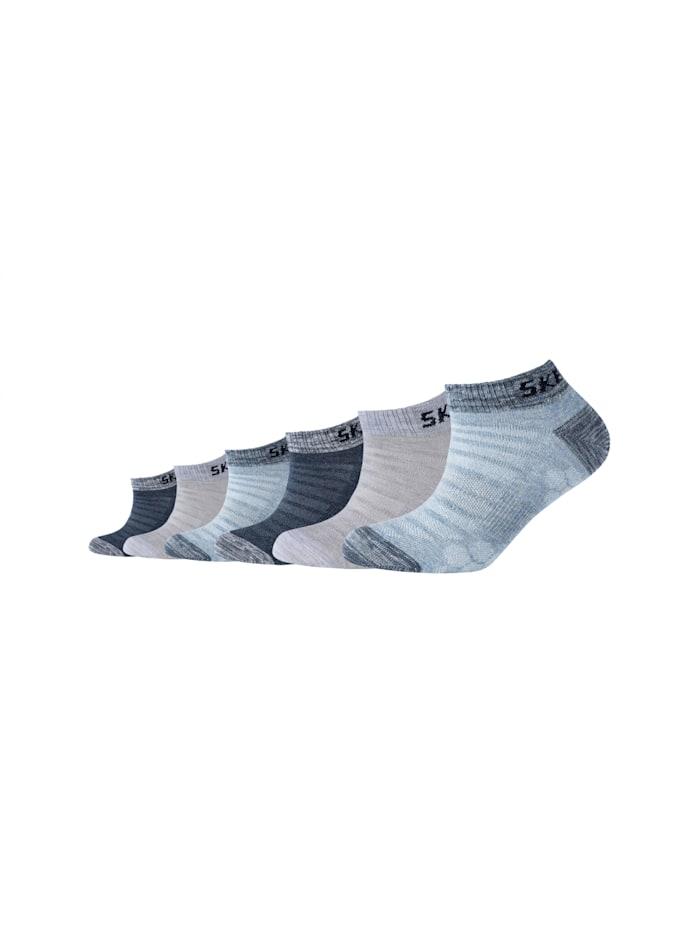 Skechers Sneakersocken im praktischen 6er Pack, stone melange