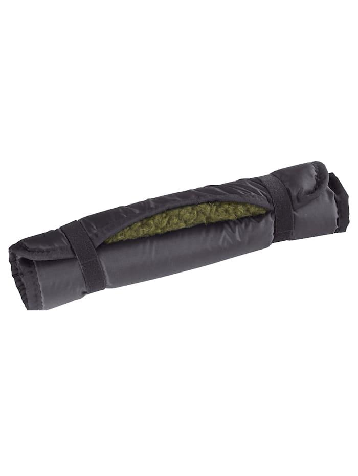 K & N Schurwolle Tapis de randonnée en laine vierge L'allié parfait, Noir/Vert
