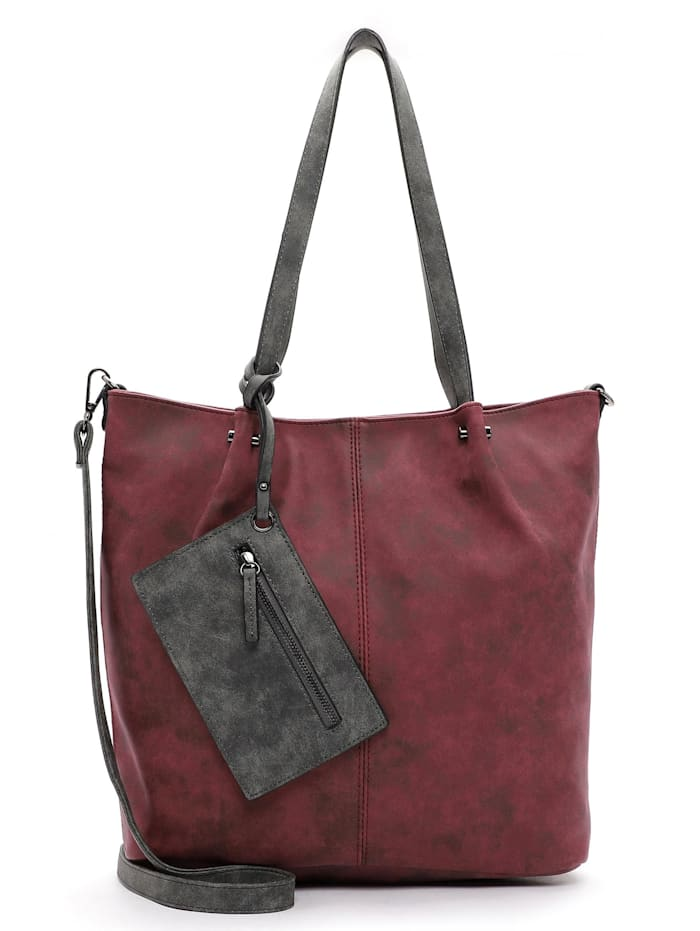 EMILY & NOAH EMILY & NOAH Shopper Bag in Bag Surprise Uni, bordo/grey 698