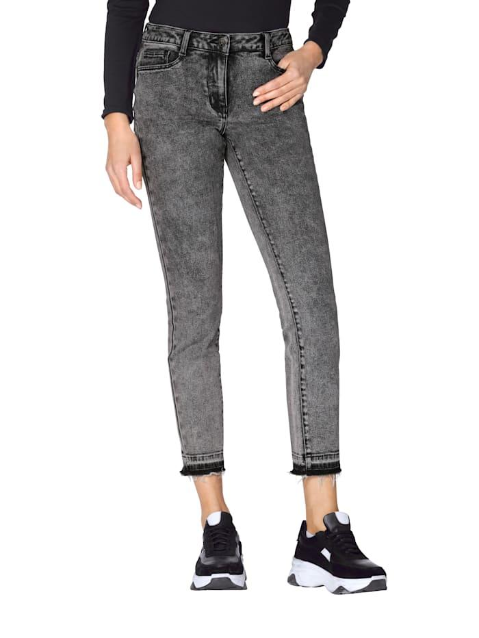 AMY VERMONT Jeans met onafgewerkte zoom, Grijs