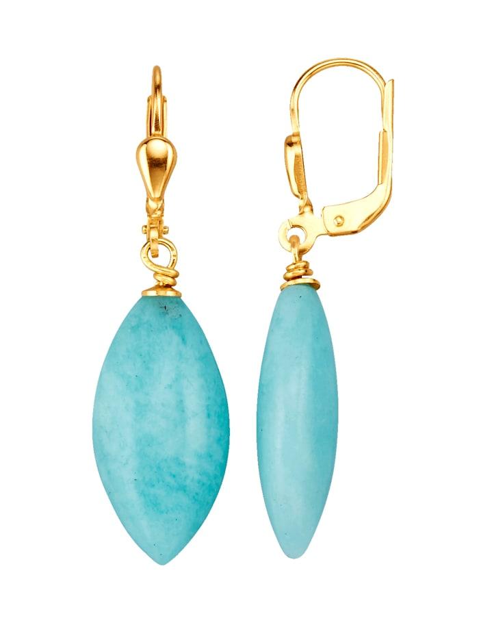 Amara Pierres colorées Boucles d'oreilles avec amazonites, Turquoise