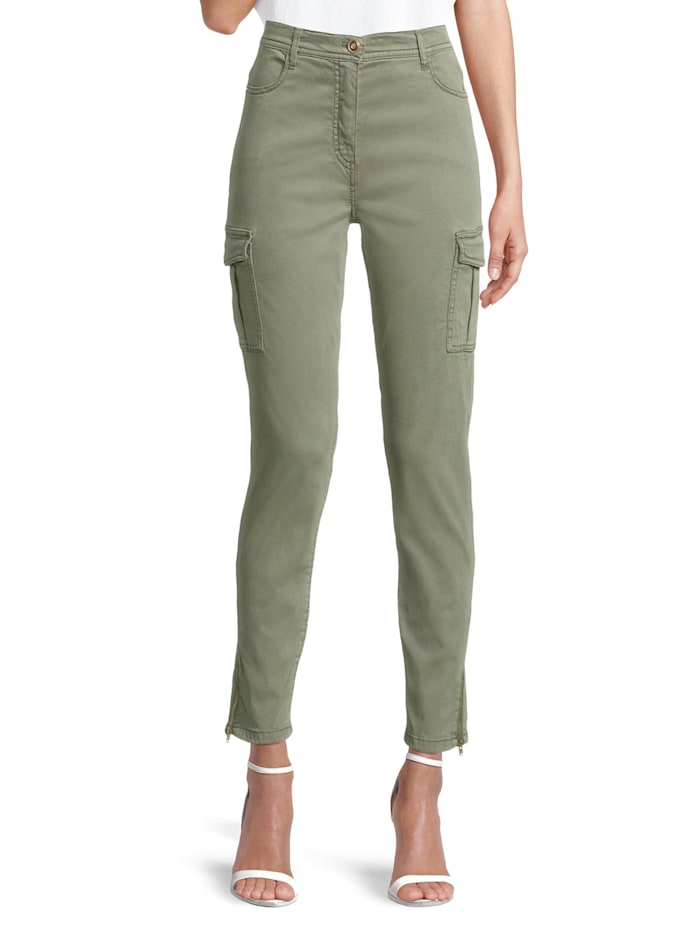 Betty Barclay Casual-Hose mit aufgesetzten Taschen, Khaki