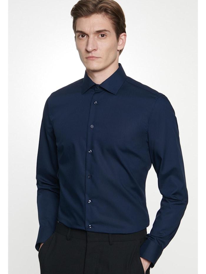 Seidensticker Business Hemd ' Shaped ', dunkelblau (0019)