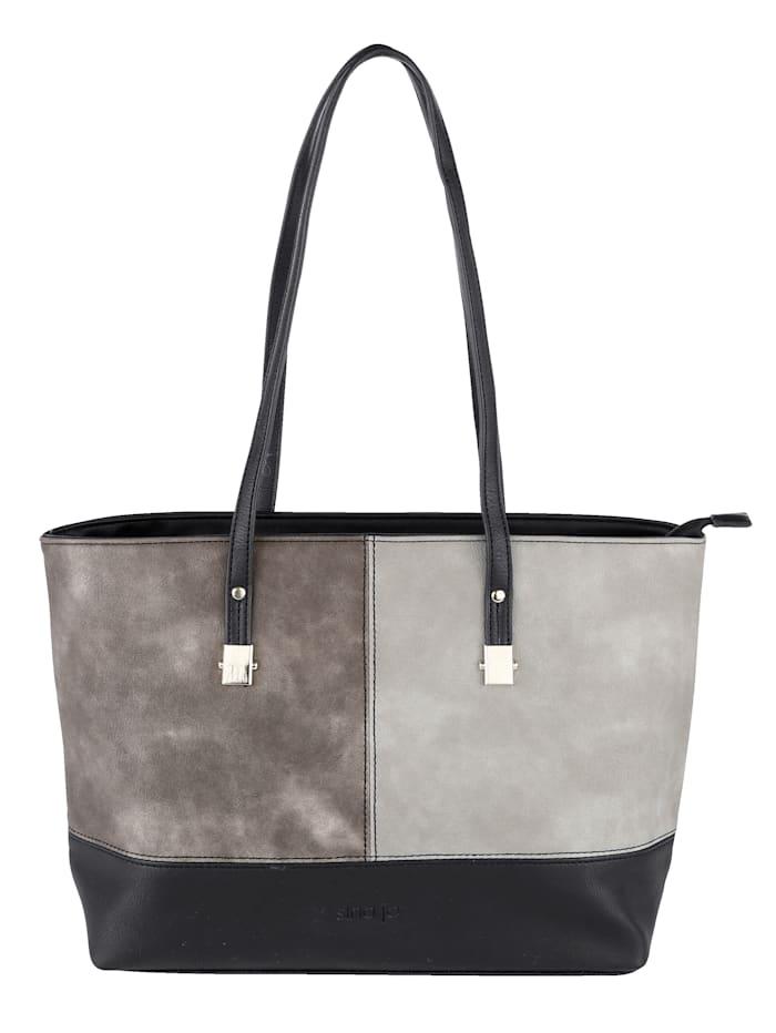 Sina Jo Handbag in a versatile finish, black/multi