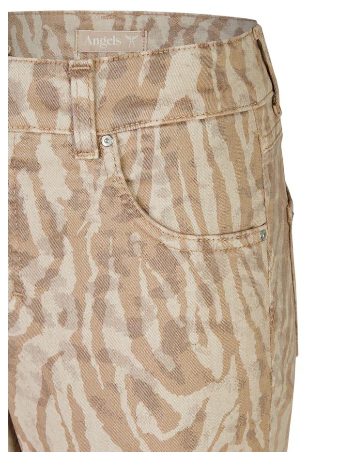 Jeans 'Skinny' mit Animalprint