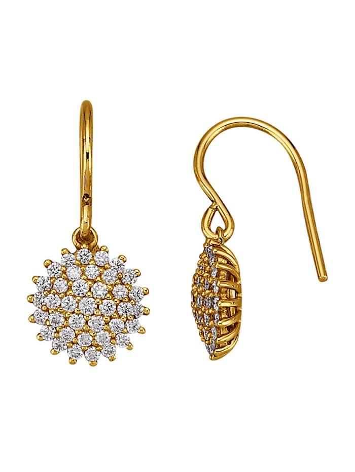 Diemer Diamant Ohrringe mit lupenreinen Brillanten, Weiß