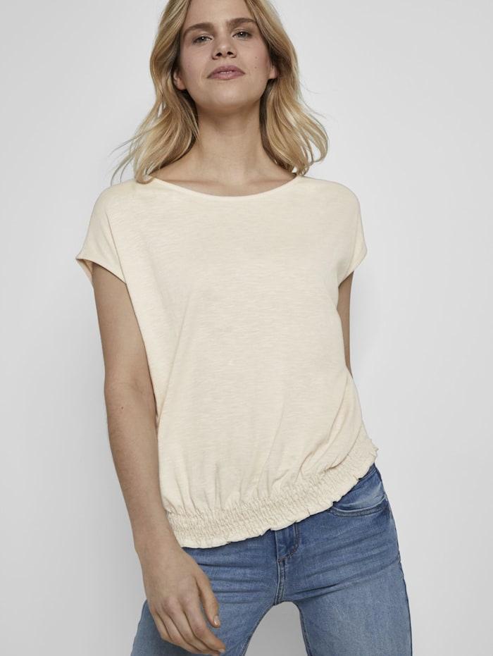 T-Shirt mit Smocking-Detail am Bund
