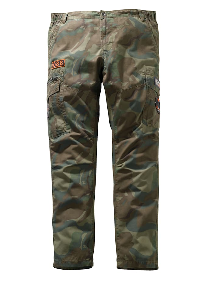 Men Plus Pantalon cargo en pur coton, Kaki/Beige/Marron