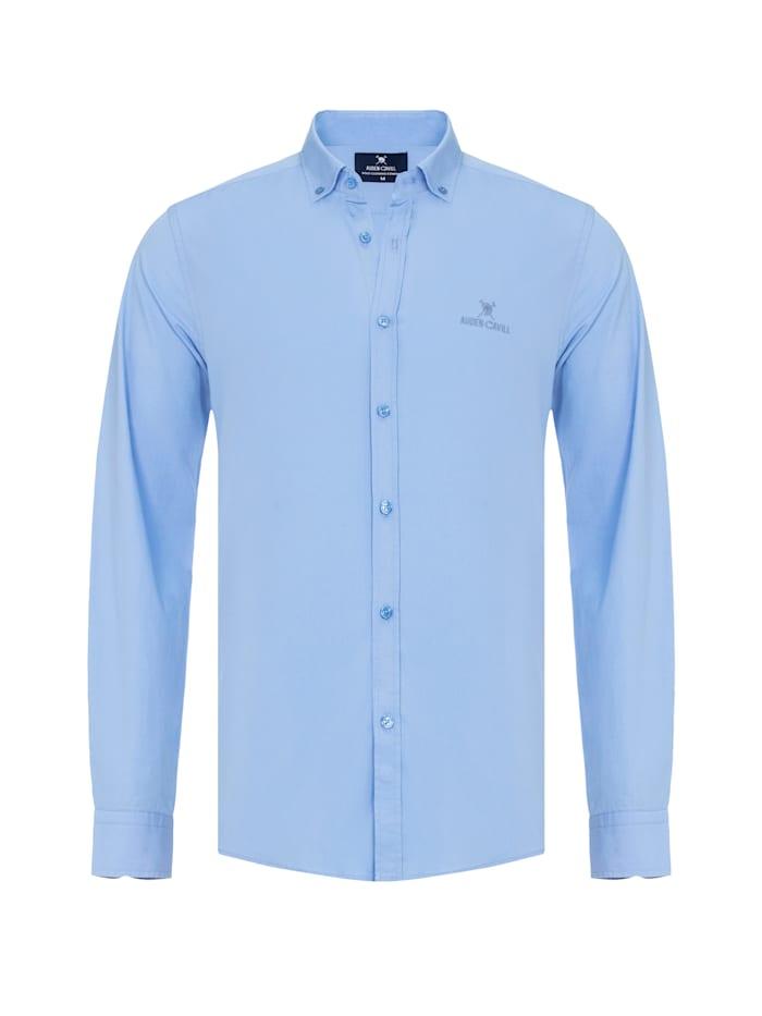 Auden Cavill Hemd mit unifarbenen Stoff, Blau