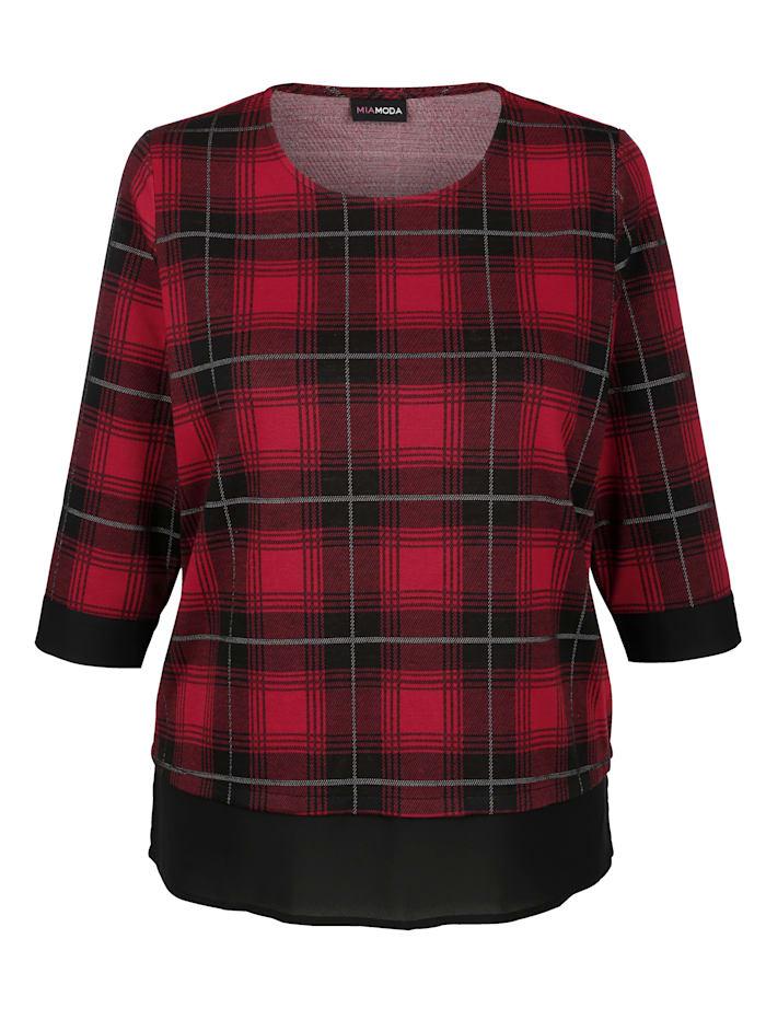Sweatshirt mit fließendem Einsatz am Saum
