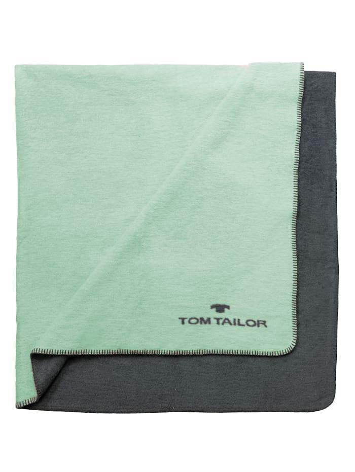 Tom Tailor Doubleface Wohndecke, Mintgrün