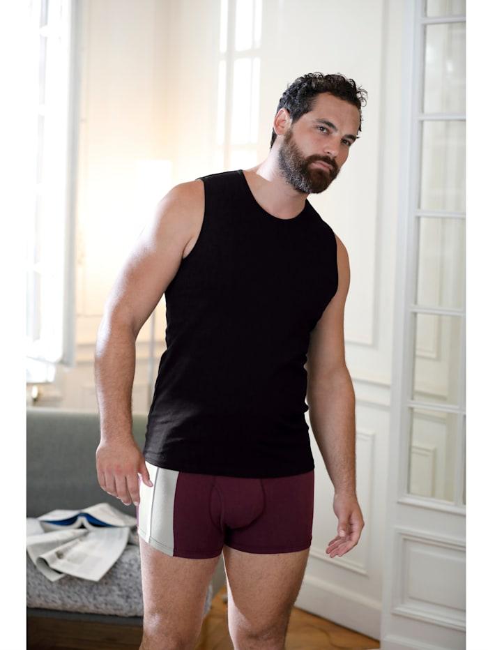 Mouwloze shirts van organic cotton, Marine/Wit/Zwart