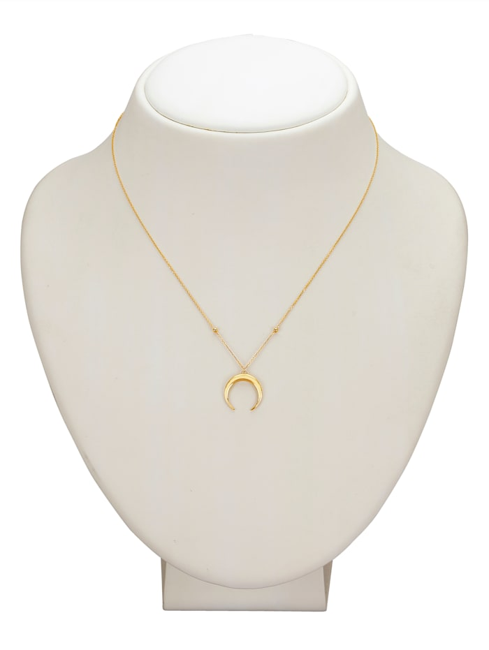 Mond-Collier in Gelbgold 375