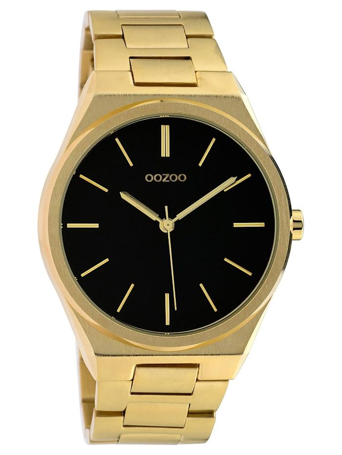 OOZOO Herrenuhr mit Stahlarmband Ø 40 mm Gold/Schwarz, Schwarz
