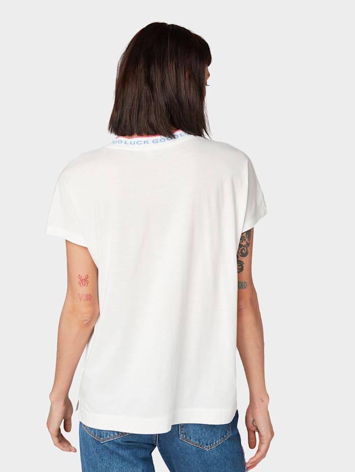 T-Shirt mit Kontrastblende