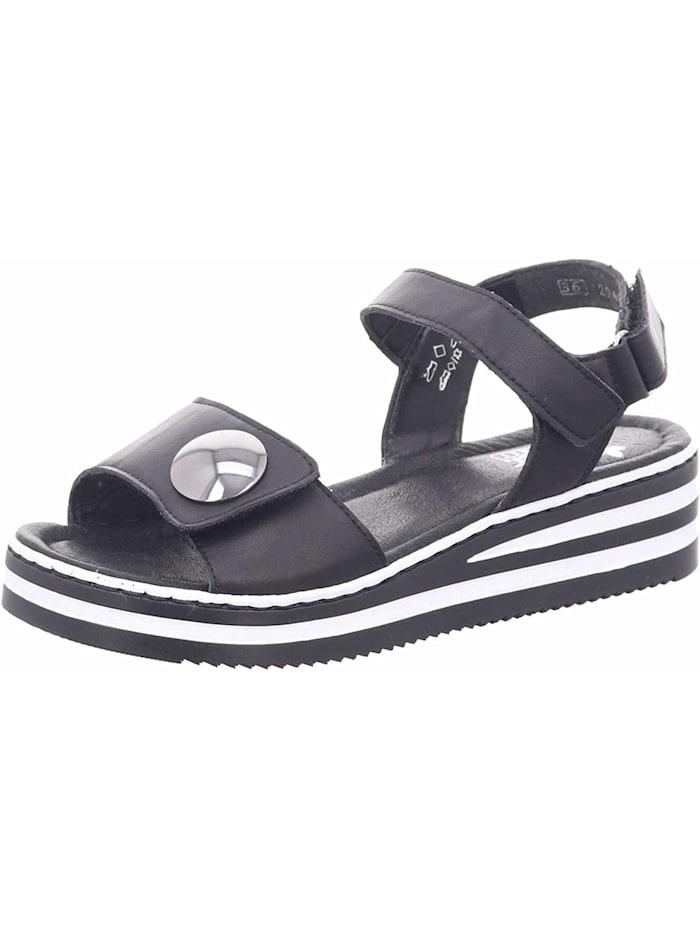 Rieker Sandalen/Sandaletten, schwarz