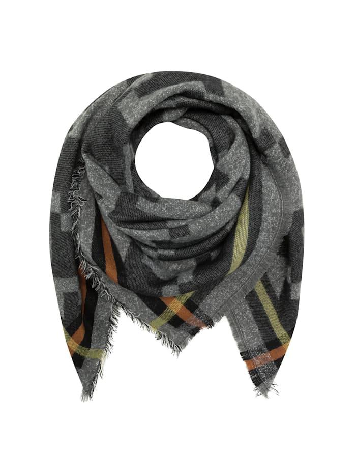 Codello Ultrasoftes Glencheck-Tuch mit Wolle, grey