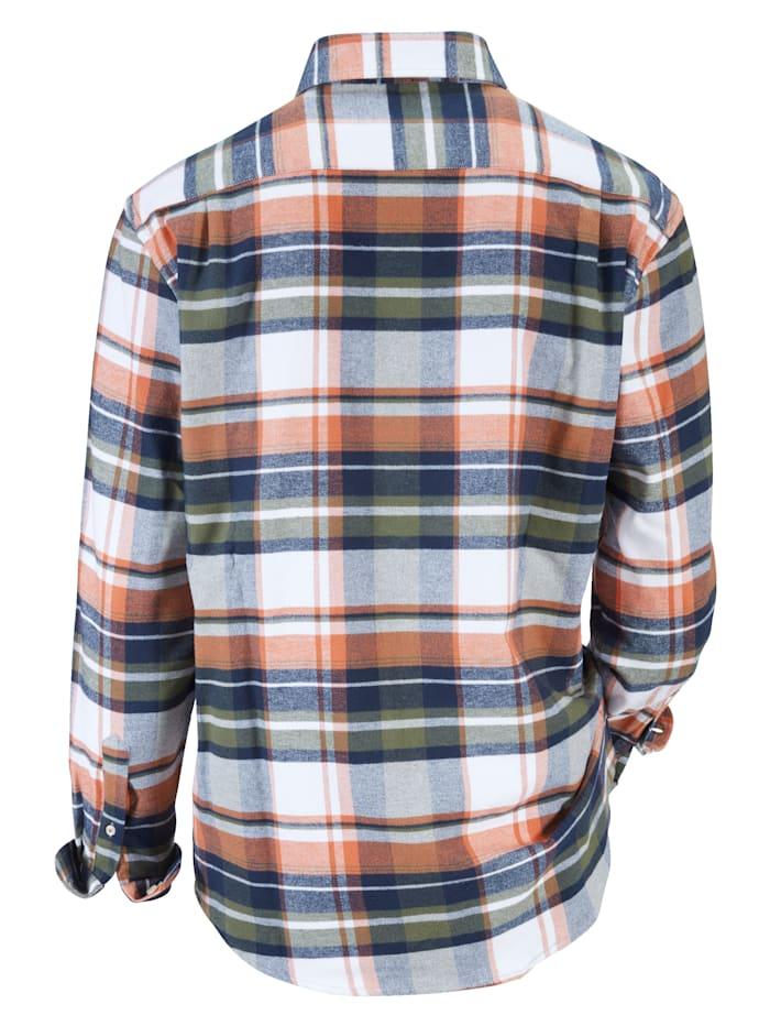 Flanellhemd mit Brusttasche