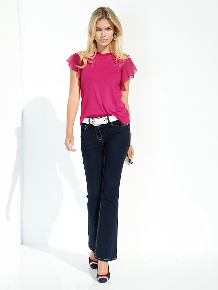 Flared Jeans mit wide Leg