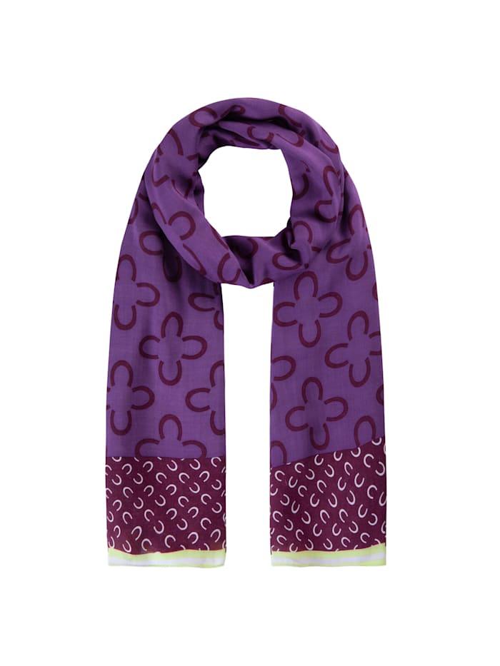 Codello Logo-Schal aus edler Viskose, dark violet